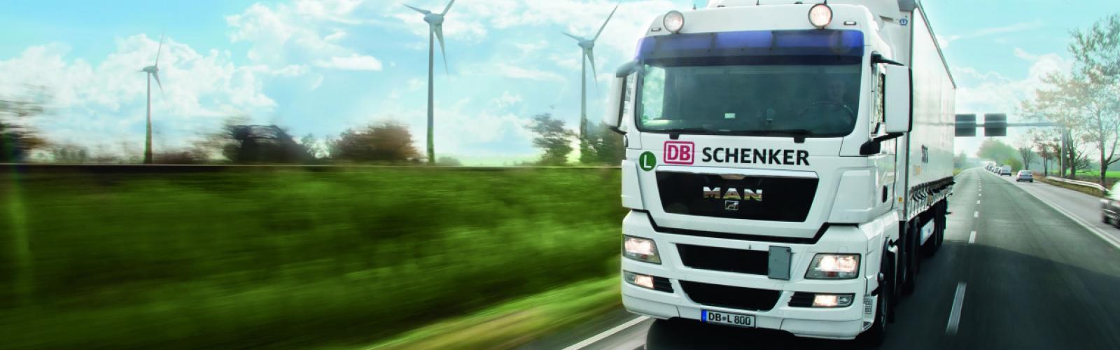 Vrachtwagen DB Schenker