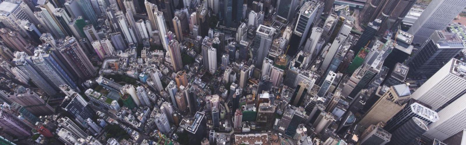 luchtaanzicht stad