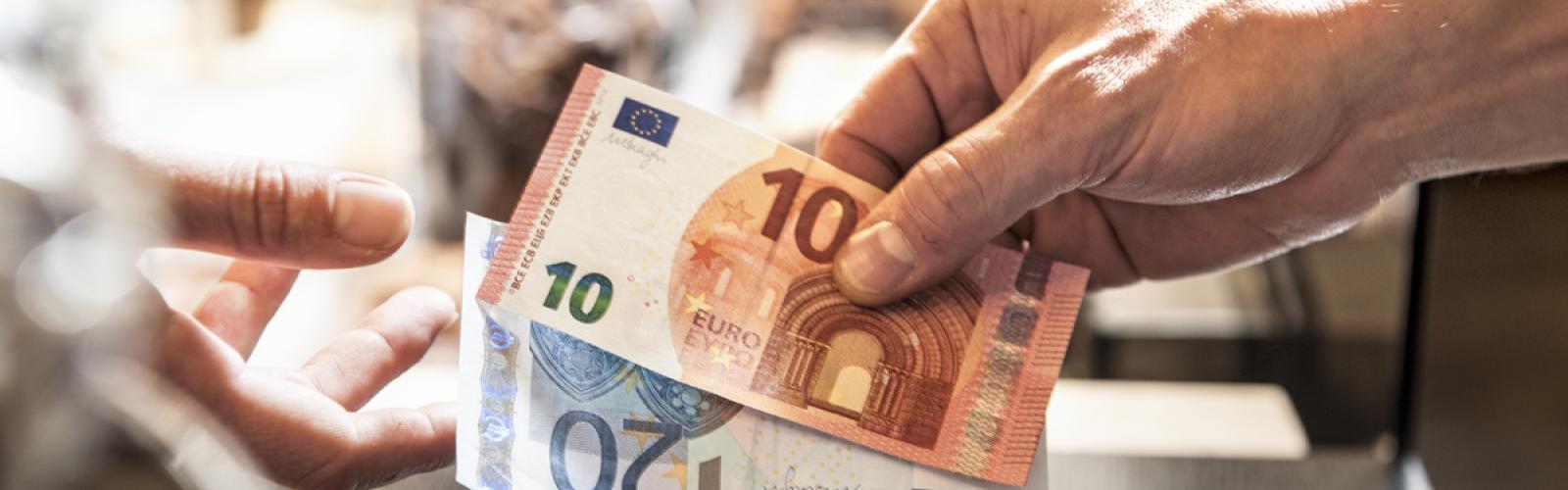 Betaling met contant geld