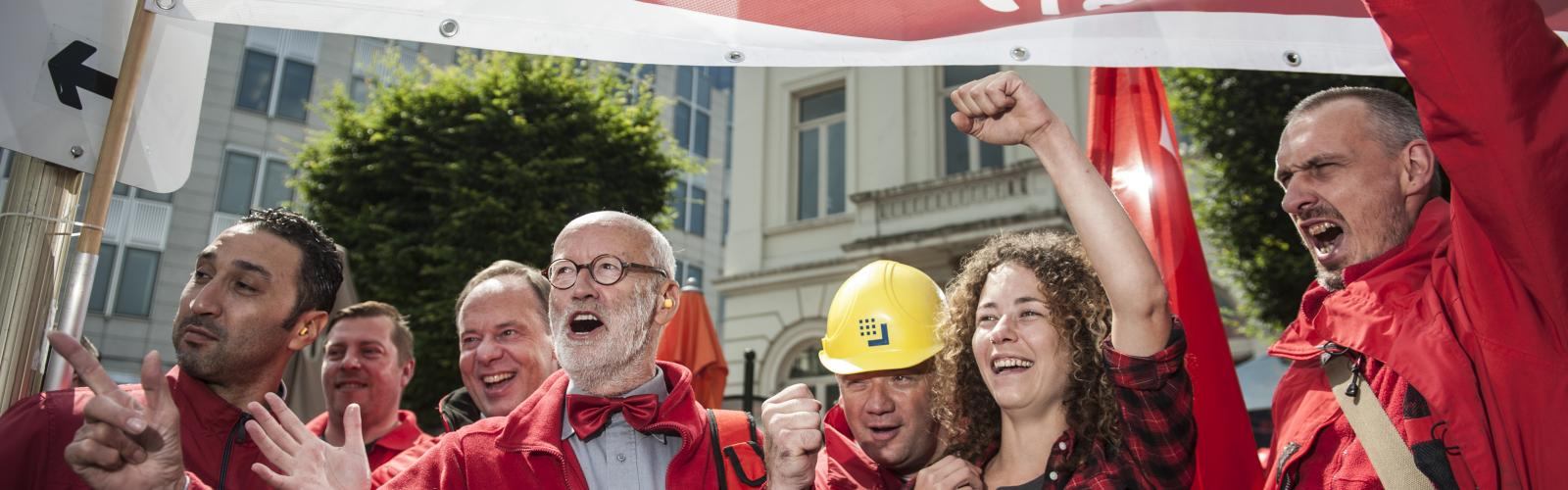 ABVV Oost Vlaanderen betoogt