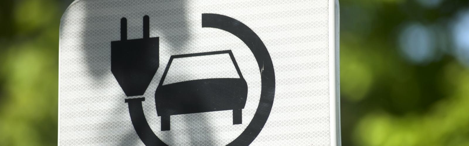 Aanduiding van oplaadplaats voor elektrische auto's
