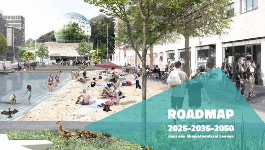 campagnebeeld Roadmap Leuven klimaatneutraal
