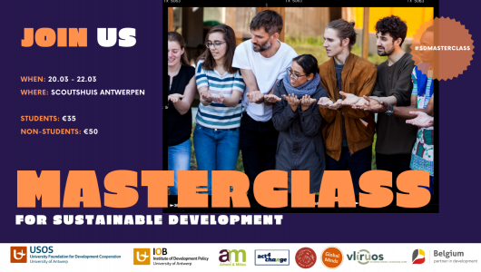 campagnebeeld Masterclass for Sustainable Development 2020