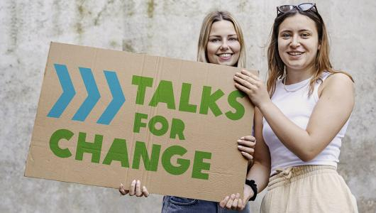 Campagnebeeld Talks for Change