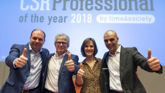 winnaars CSR Professional/CSR Pioneer  of the Year 2018