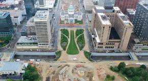 beeld stad in opbouw