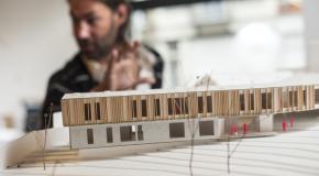 Maquette van een gebouw