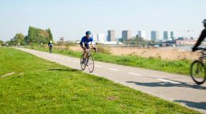 slim fietsen naar het werk