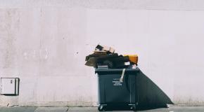 een vuilnisbak