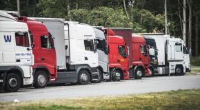 Parking voor vrachtwagens