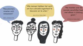 illustratie digitale vorming visie op diversiteit